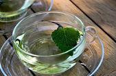 Cup of lemon balm tea — Stock Photo
