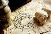 Horoscope and Witchcraft — Stock Photo