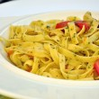 Tagliatelle with Tomatoes and herbs - Foto de Stock