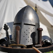Knight's helmet and Arms — Stock Photo