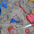 Stock Photo: Toys in a Sandbox
