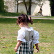 Little Girl in a traditional Bavarian Dress — Stock Photo #7873245