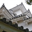Japanese castle, seen from below - Stock Photo