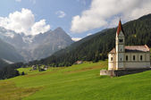 Alpine cultural landscape — Stock Photo
