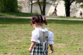 Little Girl in a traditional Bavarian Dress — Stock Photo