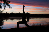 Yoga at Sunset — Stock Photo