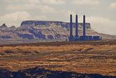Factory In the desert — Stock Photo