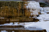 Geyser in Winter — Stock Photo