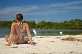Girl on the Beach — Stockfoto