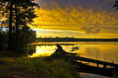 ミシガン湖をカヌーします。 — ストック写真