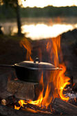 Camping Cooking — Stock Photo