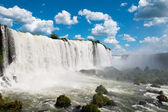 The Iguassu Falls Argentina and Brazil South America — Stock Photo
