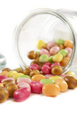 Colorful Candys out of a Glass Jar — Stock Photo