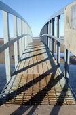 Shadows on the bridge — Stockfoto