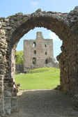 Norham Castle and entrance gate — Stock Photo