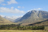Above Tyndrum in west highlands of scotland in winter — Stock Photo