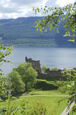 Ruins of castle Urquhart on loch Ness — Stock Photo