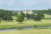 Floors Castle and river Tweed — Stock Photo