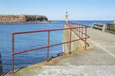 Eyemouth Limanı iskele girişi — Stok fotoğraf