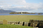 Loch Leven castle from Kinross — Stock Photo