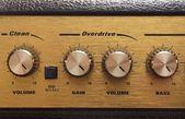Amplifier knobs — Stock Photo