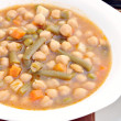 Guiso de garbanzos con verdura — Stock Photo #7780157