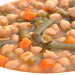 Guiso de garbanzos con verdura — Stock Photo