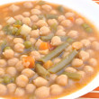 Guiso de garbanzos con verdura — Stock Photo #7780190