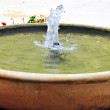 Fuente con agua — Stock Photo