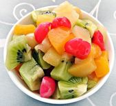 Macedonia de frutas — Stock Photo