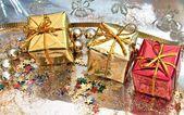 Cajas regalos de navidad — Stock Photo