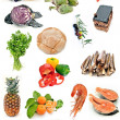 Collage con alimentos — Stock Photo