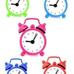 mural de relojes marcando la hora — Foto de Stock