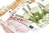 Billetes zona euro — Stock Photo