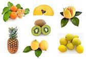 Mural con frutas — Stock Photo