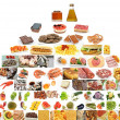 Piramide de alimentos - Stock Photo