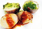 Patatas dos salsas — Stock Photo