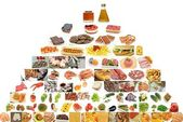 Piramide de alimentos — Stock Photo