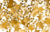 Golden Stars Isolated — Stock Photo