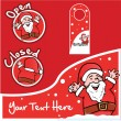Vector de stock : SantClaus labels