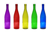 Multicolored glass bottles — Stock Photo