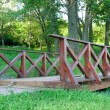 Stock Photo: Bridge in park