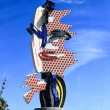 Barcelona's Head - A sculpture by Roy Lichtenstein in Barcelona — Stock Photo #7836752