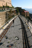 Railroad in mountains — Stock Photo