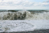 Spiaggia tempestosa — Foto Stock
