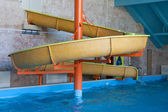 Water slide in aquapark — 图库照片