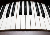 Curved piano keyboard — Stock Photo