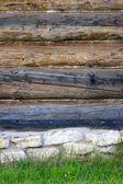 Wall of log house — Stock Photo