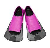 Roze flippers om te zwemmen — Stockfoto