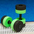 Royalty-Free Stock Photo: Dumbbells for Aqua Aerobics